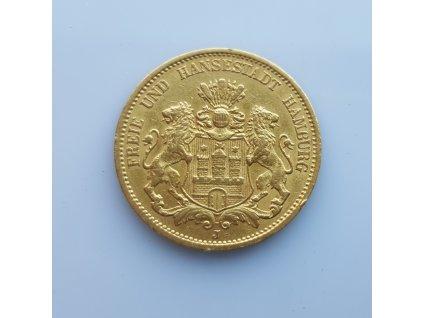Zlatá 20 marka 1880 Hamburg