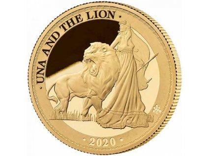 Zlatá moderní mince Una & The Lion 1 Oz proof 2020
