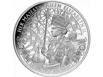 Stříbrná moderní mince Long May She Reign 1 Oz 2020