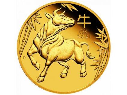 Zlatá mince rok Býka 2021-1/4 Oz