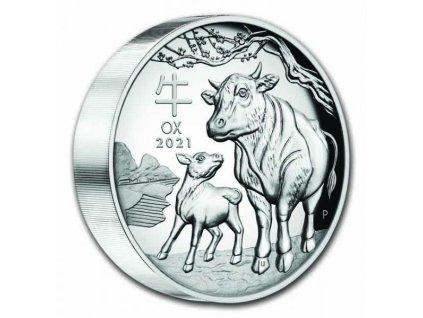 Stříbrná mince rok býka 2021 1 kg