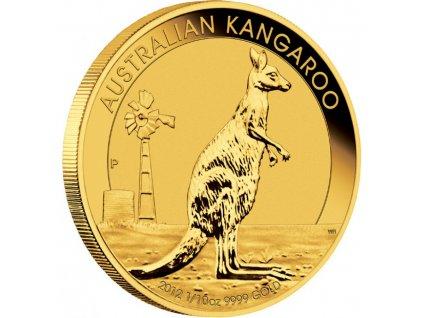 Zlatá mince australský klokan -nugget 2012 1/10 Oz