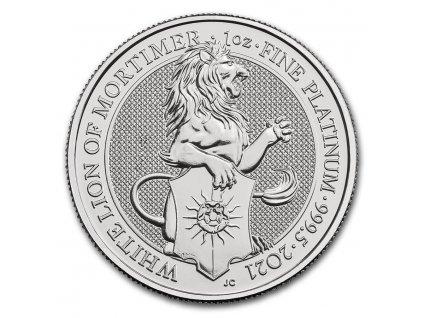 Platinová mince 1 oz White lion of Mortimer 2021