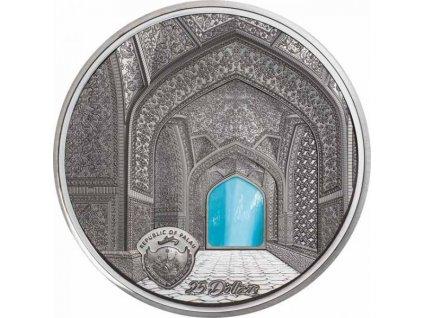 Stříbrná moderní mince Tiffany Art - Isfahan Black Proof 2020 5 Oz