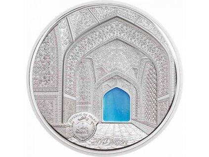 Stříbrná moderní mince Tiffany Art - Isfahan Black Proof 2020 3 Oz