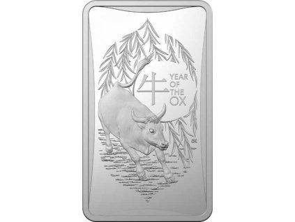 Stříbrná mince Rok Býka 2021 1/2 Oz
