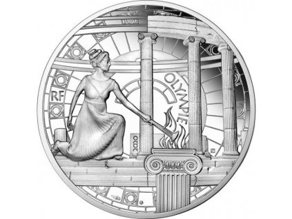 Stříbrná moderní mince Olympia 2020 proof