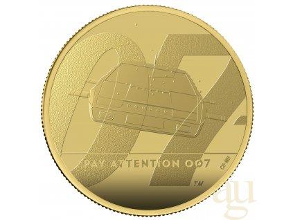 Zlatá moderní mince James Bond 007 Pay Attention 2020 1 Oz proof