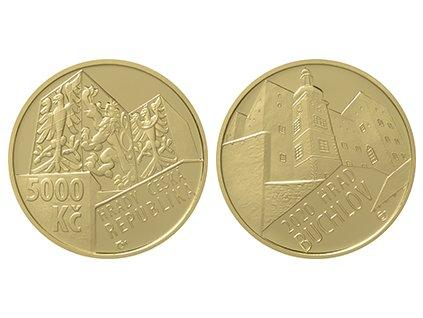 Zlatá mince hrad Buchlov 2020