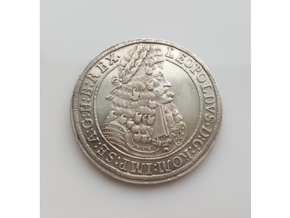 Stříbrný tolar Leopold I. 1704 Hall