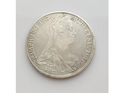Stříbrný tolar Marie Terezie 1773  SC