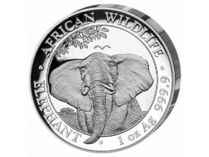 Stříbrná moderní mince Slon 1 Oz proof 2021