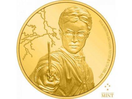 Zlatá moderní mince Harry Potter proof 2020