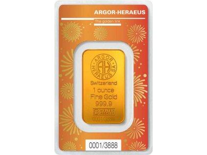Investiční zlatý slitek1 Oz Rok býka
