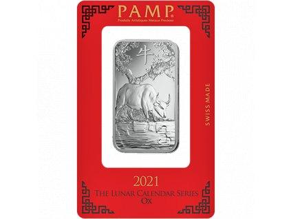 Investiční stříbrný slitek Rok býka 1 Oz PAMP