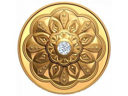 Zlatá moderní mince s diamantem Forevermark Black Label Round 1 Oz proof 2020