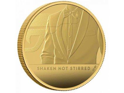 Zlatá moderní mince James Bond Protřepat, Nemíchat 7.8g proof 2020