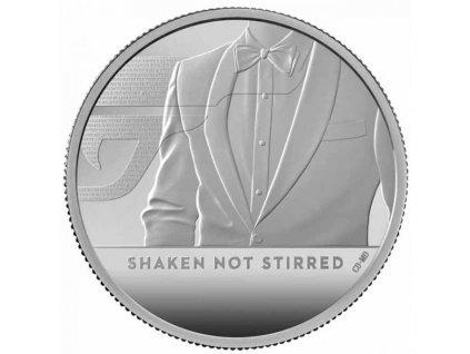 Stříbrná moderní mince James Bond Protřepat, Nemíchat 2 Oz proof 2020