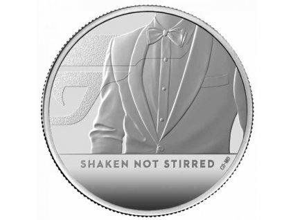 Stříbrná moderní mince James Bond Protřepat, Nemíchat 1/2 Oz proof 2020