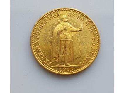 Zlatá 20 korona 1915 KB