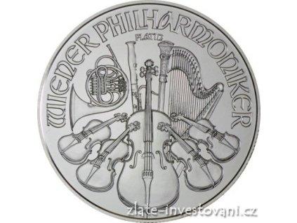 Investicni platinova mince rakousky philharmoniker 1 /25 oz