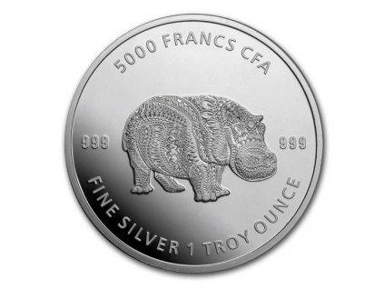 Stříbrná investiční mince Hroch 2020 1 Oz série Mandala