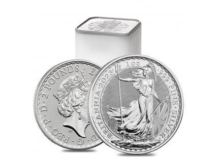 Stříbrná investiční mince Britannia 1 Oz 2021