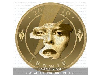 Zlatá moderní mince David Bowie 1/4 Oz proof 2020