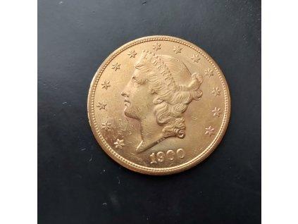 Investiční zlatá mince americký double Eagle-Liberty 1900