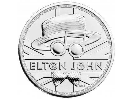 Stříbrná investiční mince Elton John 1 Oz proof 2021