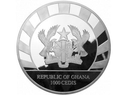 Investiční stříbrná mince Tygr Šavlozubý 1 Kg 2020