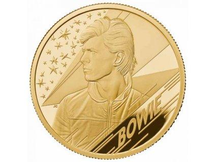 Moderní zlatá mince David Bowie 2020 1/4 Oz proof