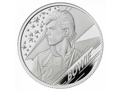 Moderní stříbrná mince David Bowie 2020 1/2 Oz proof