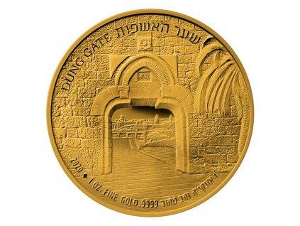 Zlatá mince Dung Gate -série Brány Jeruzaléma 2020 1 Oz