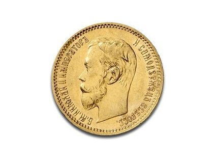 Zlatý 5rubl Mikuláš II. 1897