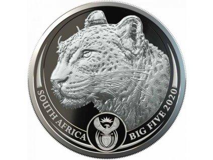 Moderní stříbrná mince Leopard 2020 proof 1 Oz