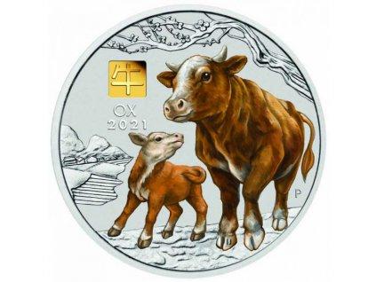 Moderní stříbrná mince Rok Býka 2021 1kg