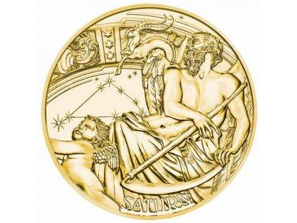 Zlatá moderní mince Medaile Kalendáře 2021