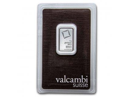 5 gram platinum bar valcambi in assay 209225 slab