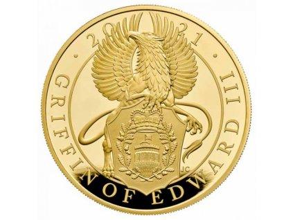 Moderní zlatá mince Griffin of Edward III 5 Oz proof 2021