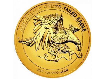 Moderní zlatá mince Australian Wedge-tailed Eagle 1 Oz proof 2021