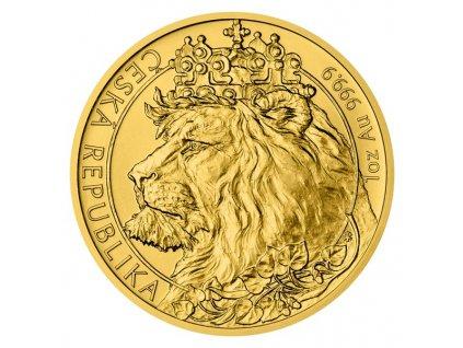 Zlatý investiční mince český lev 2021   1 Oz