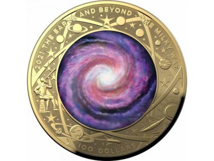 Zlatá moderní mince The Earth and Beyond 1 Oz proof 2021