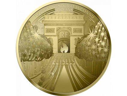 Zlatá moderní mince Champs-Elysees 1/4 Oz proof 2020