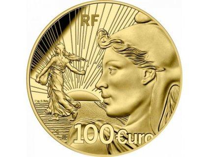 Zlatá moderní mince Sower 2021 - 20th Anniversary proof 1/2 Oz