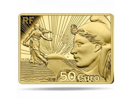 Zlatá moderní mince Sower 2021 - 20th Anniversary proof 1/4 Oz