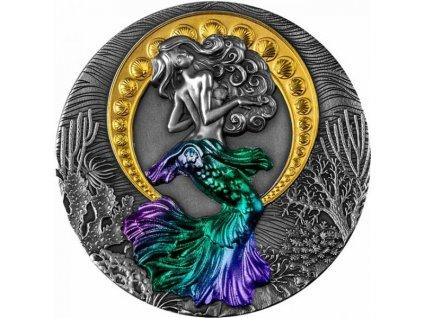 Stříbrná moderní mince Siréna 2 Oz 2021