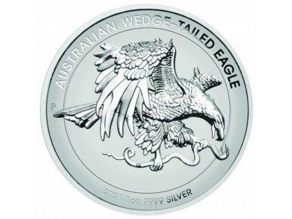 Moderní stříbrná mince Australian Wedge-tailed Eagle 1 Oz proof 2021