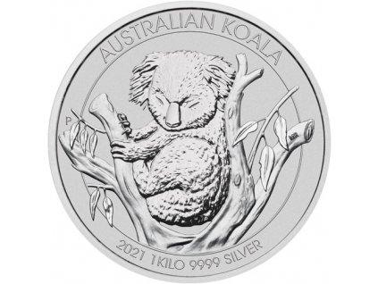 Investiční stříbrná mince australská Koala 2021 1 Kg