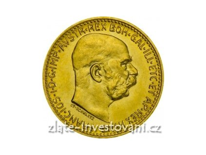 3098 investicni zlata mince rakouska desetikoruna novorazba 1912